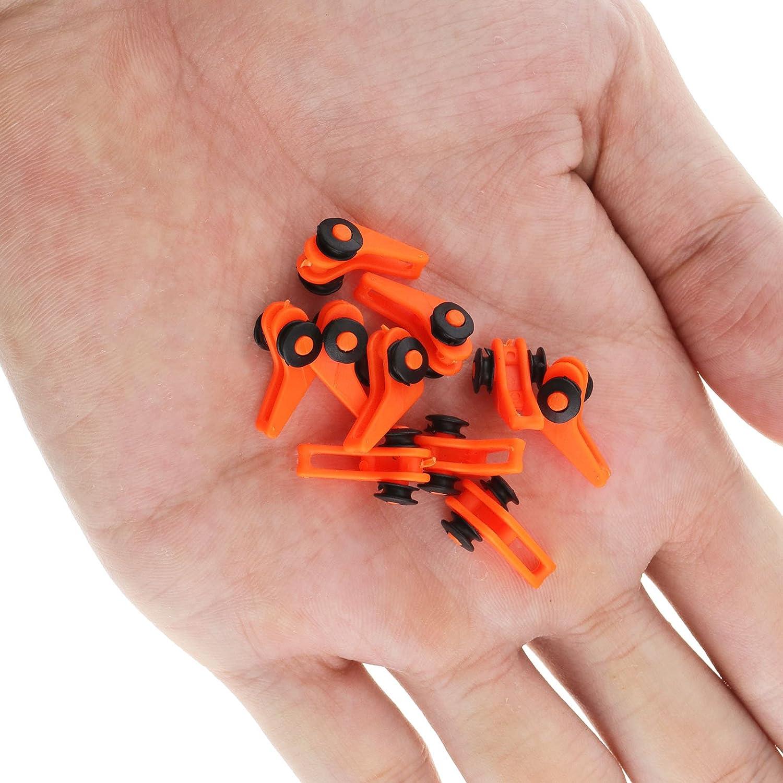 Color Naranja OTOTEC 10 Ganchos para ca/ña de Pescar de pl/ástico