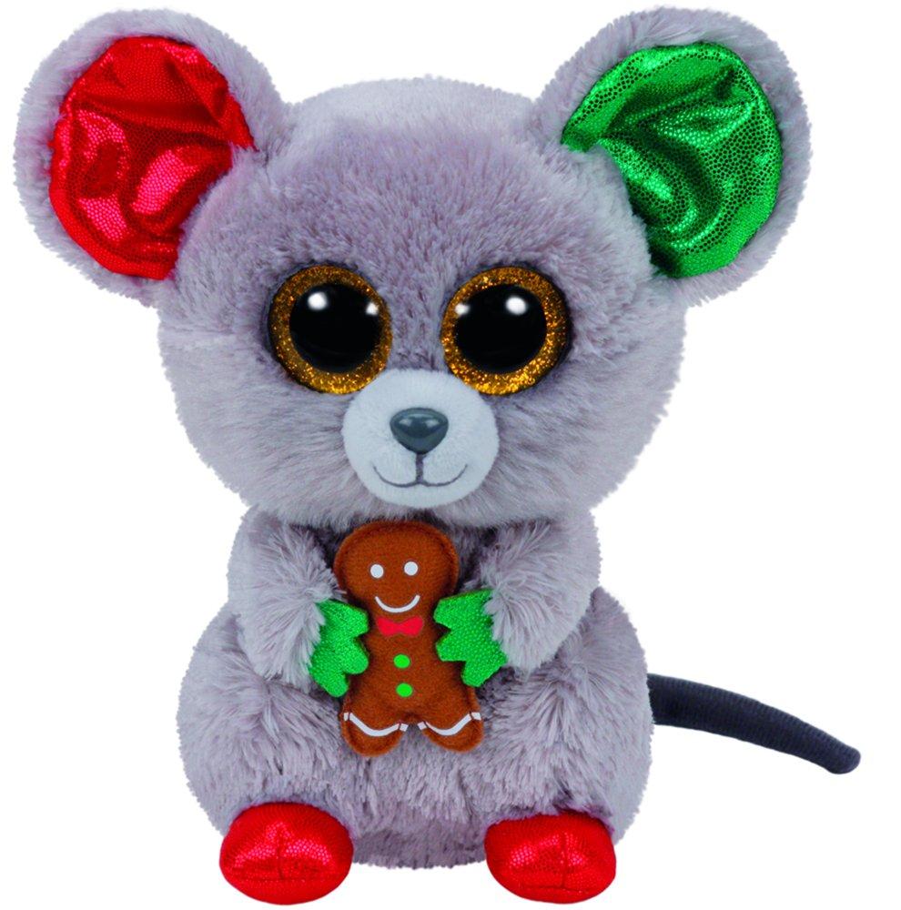 Carletto Ty 37196 - mac - ratón de la navidad con los ojos de brillo de glubschi beanie boo, x-mas limitada, felpa, 15 cm: Amazon.es: Juguetes y juegos