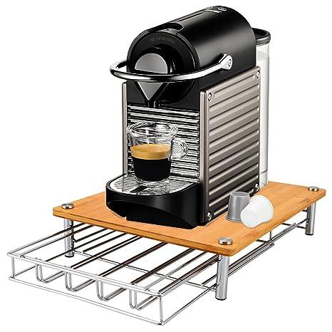 Parte superior Home Solutions® Bambú máquina de café Cápsulas Soporte Soporte para cápsulas de almacenamiento