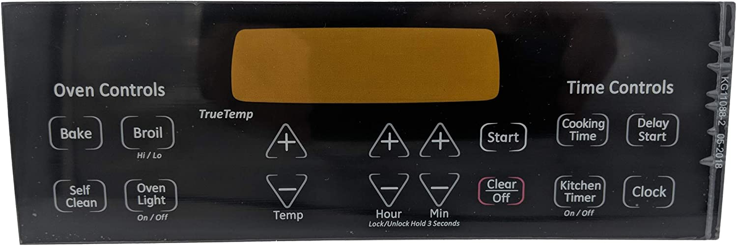 Supplying Demand WB27T11229 Faceplate Oven Range Black Graphic Overlay Fits AP4484324 PS2370149