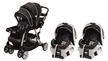 Graco Ready2grow Lx Baby Stoller Snugride Twin Travel System