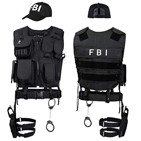 Black Snake® Disfraz de Agente Especial SWAT FBI Police Security ...