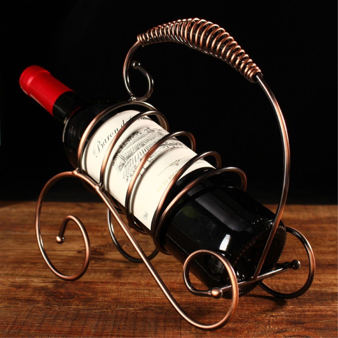 Amazoncom Fantasee Creative Wine Holder Stainless Steel Wine Rack