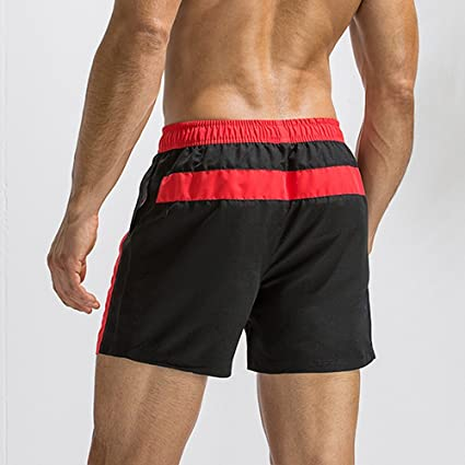 7f57b464fc1 Amazon.com: Xindeek Men Breathable Beach Shorts Basic Slim Casual Swim  Trunks Surfing Bathing Suit Swimwear: Clothing
