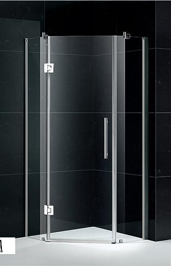 Venus Shower Enclosure 34u0026quot;x34u0026quot;x76u0026quot; Neo-Angle Frameless Pivot- Door & Venus Shower Enclosure 34
