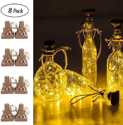 solare bottiglia bottiglia di vino luci decorative LED