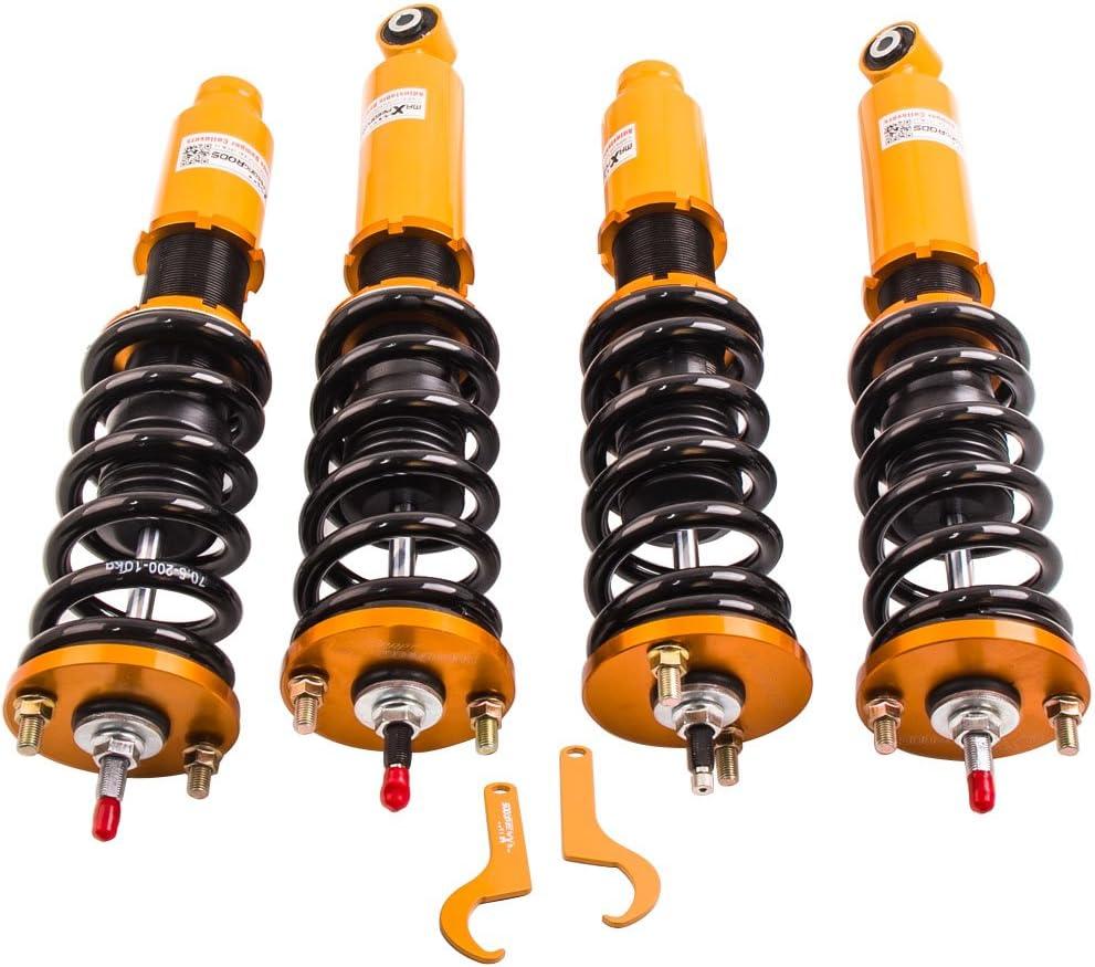 Set of 4 Coilovers Strut for Honda CR-V 1996-2001 Suspension Spring Shock Absorber Adjustable Height Front Rear