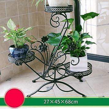 soporte de hierro flor Estante de balcón de varios pisos de ...