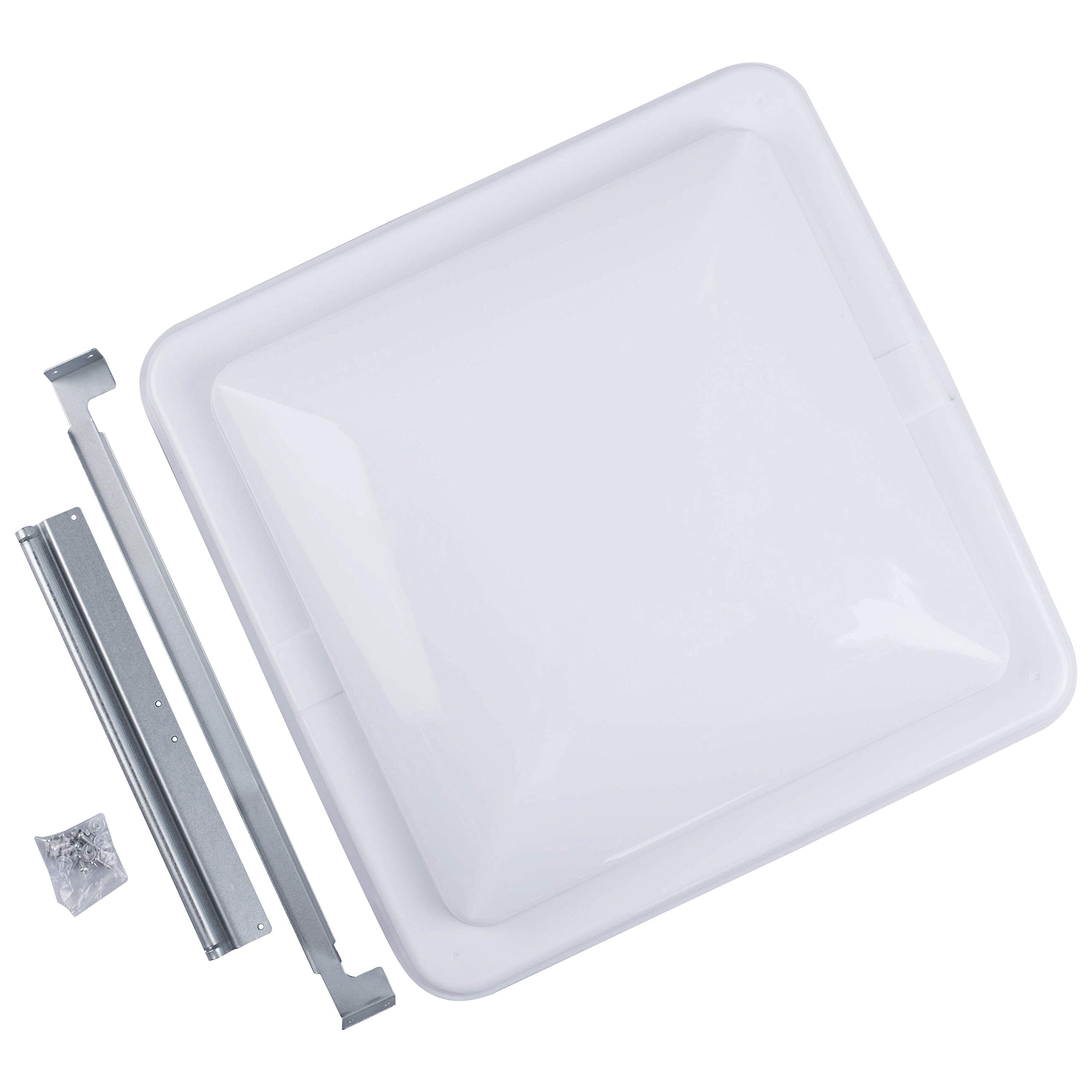 Camp'N 14'' Universal RV, Trailer, Camper, Motorhome Roof Vent Cover - Vent Lid Replacement (White 1 Pack) by Camp'N