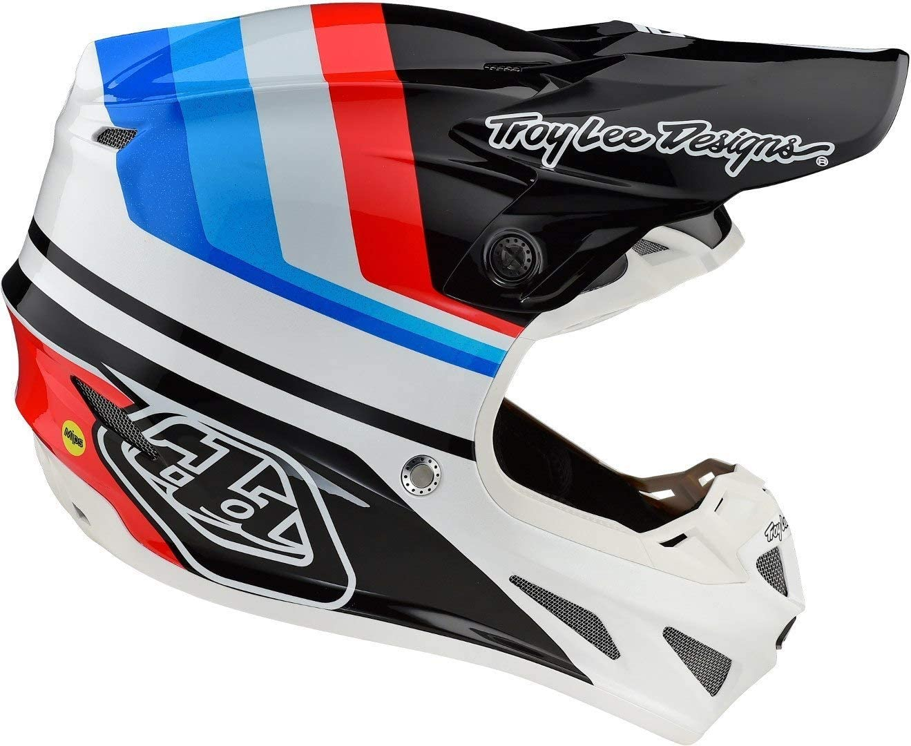 Troy Lee Designs SE4 Mirage MIPS Casque Motocross Blanc//Noir//Rouge