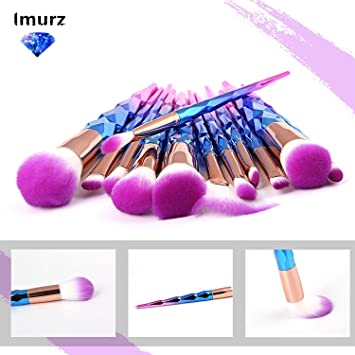 Imurz 12stück Pro Bunt Regenbogen Einhorn Unicorn Make Up Brush Set