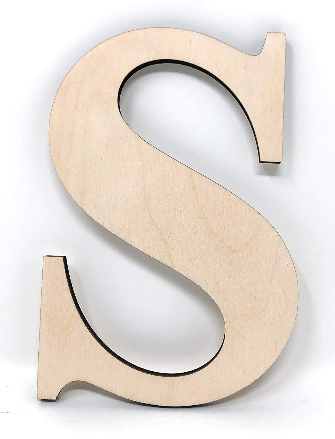 "Gocutouts 12"" Wooden A Unfinished Wooden Letters Paint Ready Wall Decor Times Letter (12"" - 1/4"", S)"