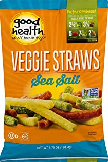 product image for Good Health Non-GMO Veggie Straws 6.75 oz. Bag (Sea Salt, 4 Bags)