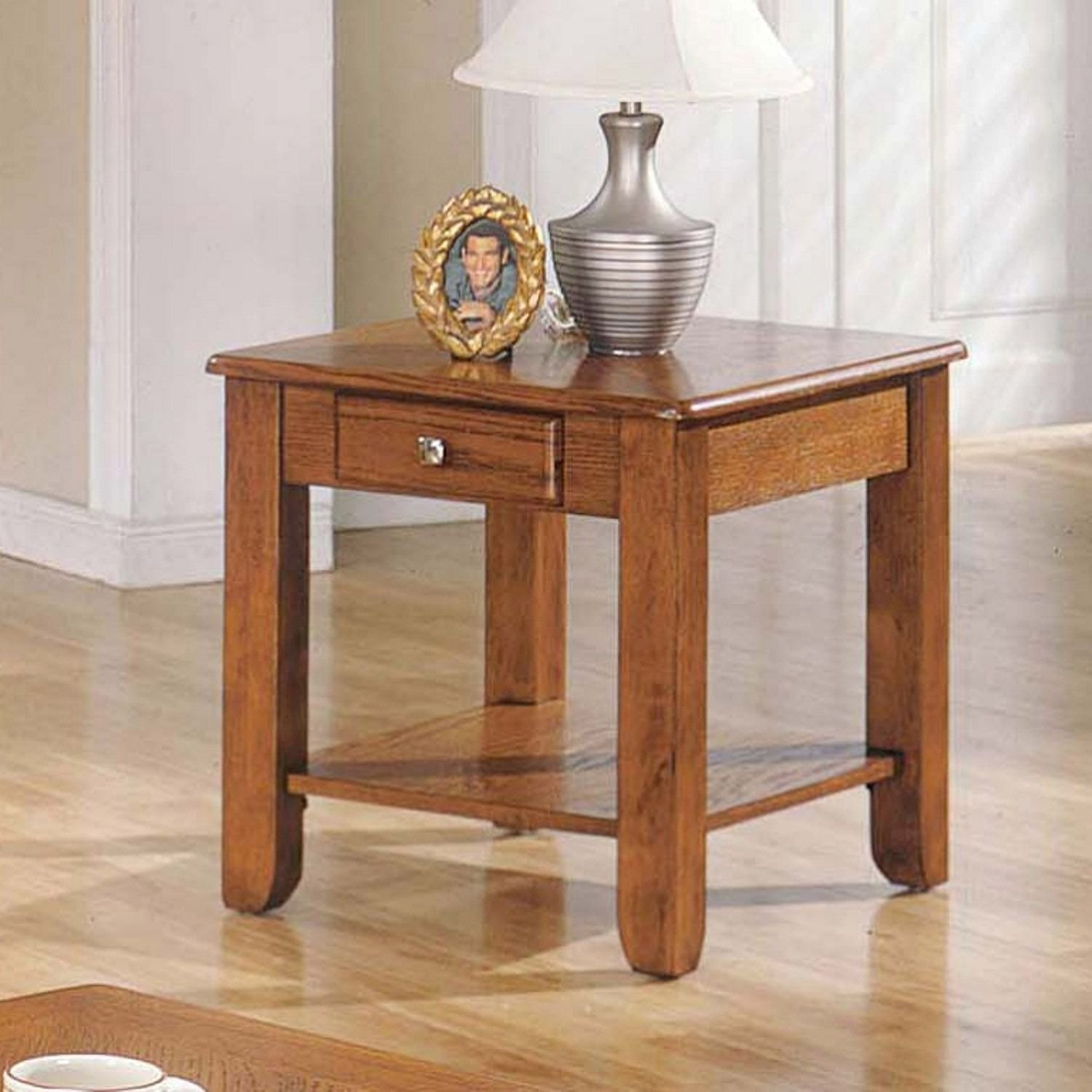 Amazon Logan Collection Oak End Table Kitchen & Dining
