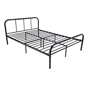 Amazoncom GreenForest Full Size Bed Frame Stable Metal Slat