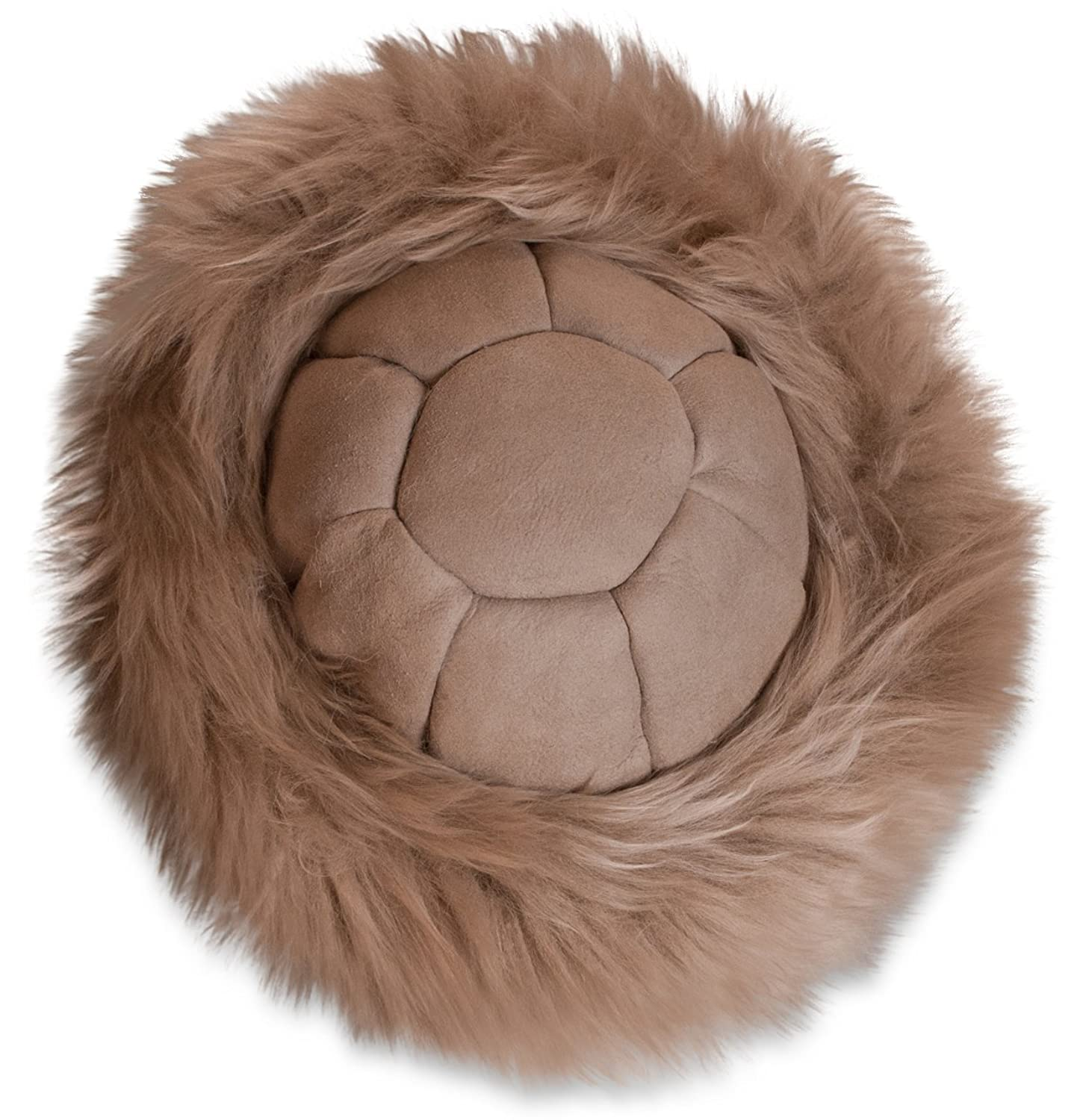 Ladies Sheepskin Cossack Hat Biege with Tan top 100 % genuine sheepskin Soft 9c7ac0818a5