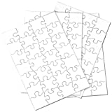 "Inovart Puzzle-It 28-Piece Blank Puzzle, 24 Puzzles Per Package, 5-1/2"" x 8"", White"