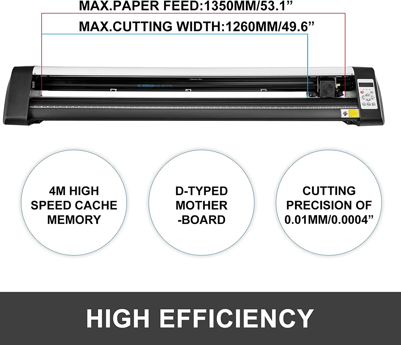 VEVOR 53 Inch Vinyl Cutter Machine Vinly Sign Cutting Plotter Starter Bundle Kit Software: Amazon.es: Electrónica