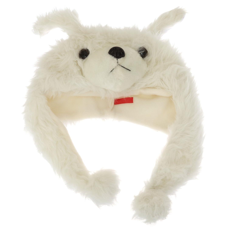 Childrens//Kids Little Girls Animal Design Soft Winter Trapper Hat with Tassels