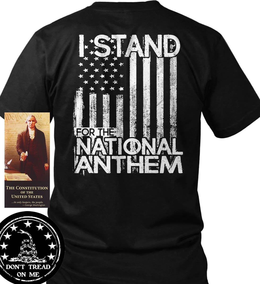 Sons Of Libery I Stand For The National Anthem. T-Shirt. Made In USA
