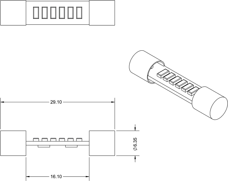 VLEDS 1pc 54lm 5500K White Vanity Sun Visor 6 LED Bulb
