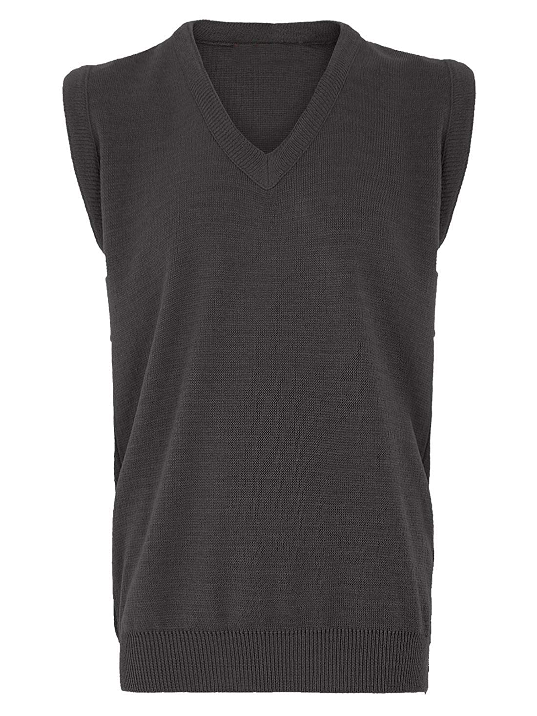 DIGITAL SPOT Mens Plain Knitted Slipover Tank Top Adult Sleeveless V Neck Sports Wear Sweater Small//5X-Large