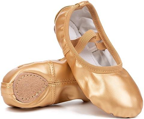 Amazon.com | Toddler Girls Boys Ankle Strap Ballet Dance Shoes Athletic  Ballet Slippers Gold 10-10.5 Toddler | Dance