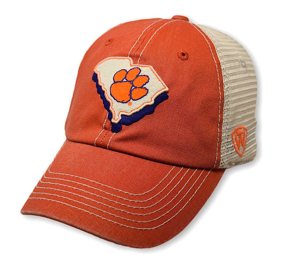 Top of the World Clemson Tigers Men's Mesh-Back Hat Icon, Orange, Adjustable