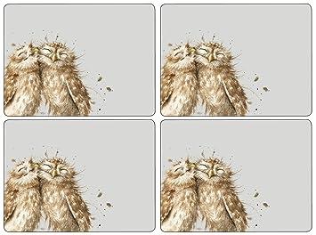 Pimpernel - Sets de Table - Wrendale Owl - Boîte de 4: Amazon.fr ...