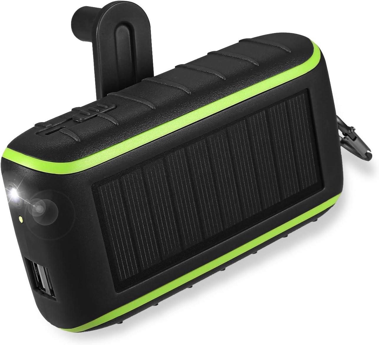 Workingda Powerbank Solar Ladegerät 10000mah Externer Elektronik