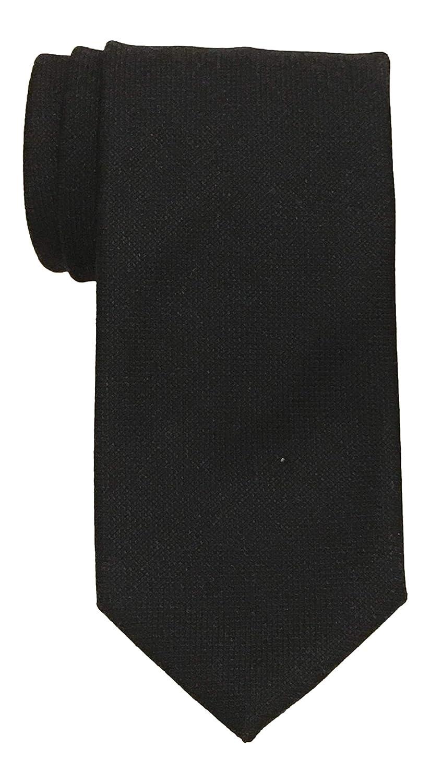 Versace Collection Wool Solid Midnight Navy Textured Tie