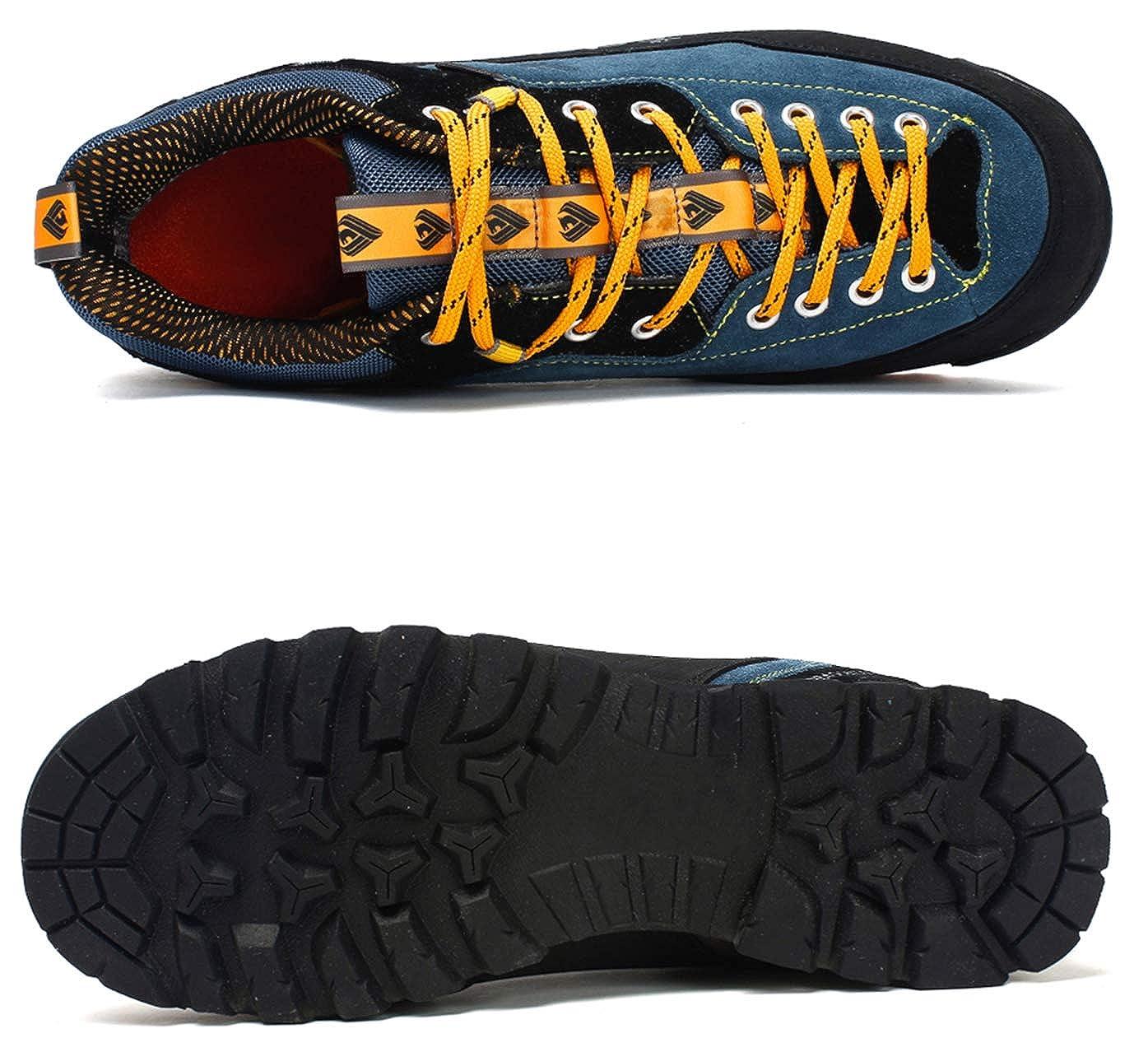 4d0e08e1607ca Weweya Hombres Botas de Senderismo Zapatos de Trekking resbaladizo Caminar  Transpirable Zapatilla de Escalada  Amazon.es  Zapatos y complementos