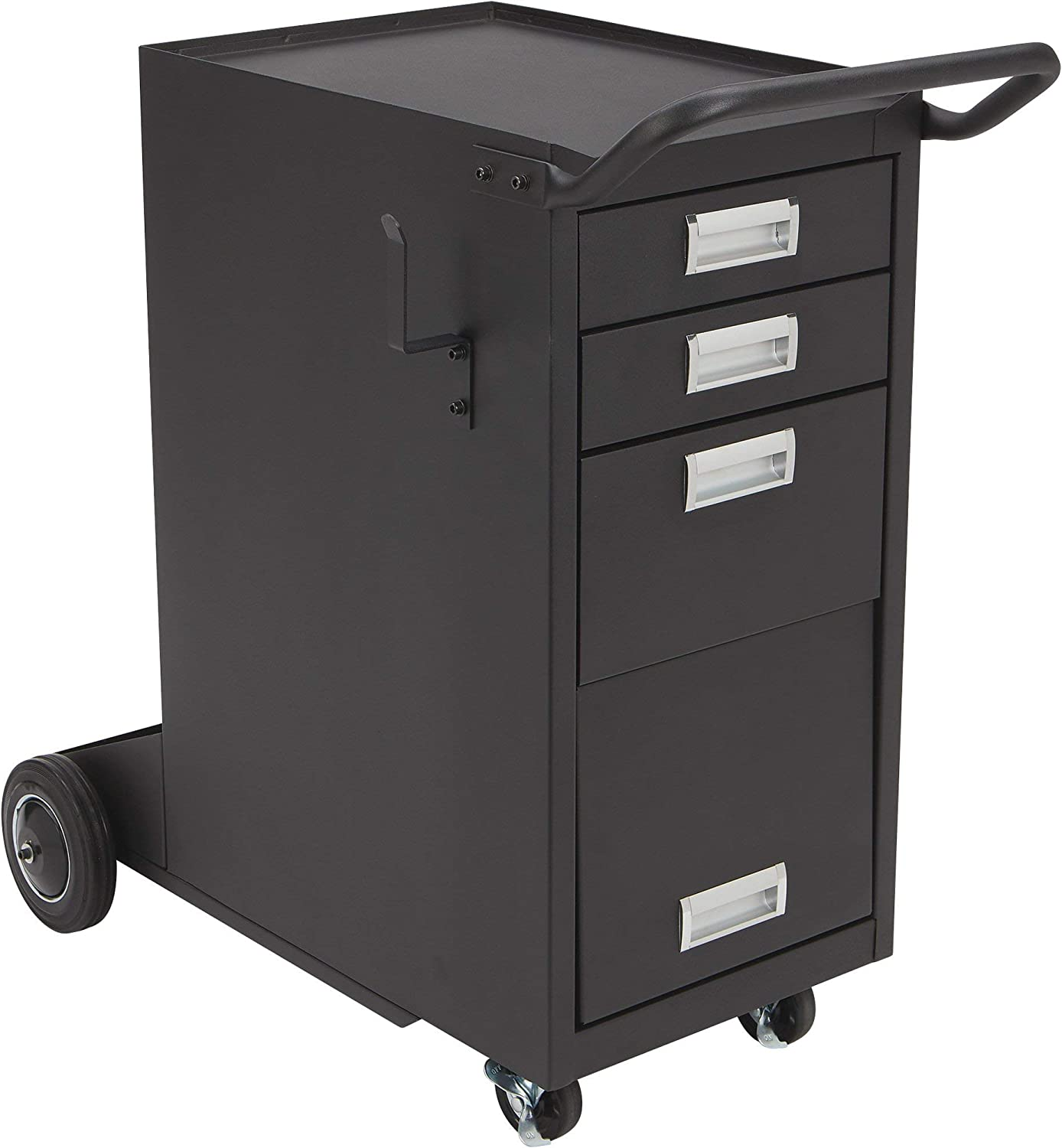 Klutch Deluxe 3-Drawer Welding Cabinet with Enclosed Storage 33 1//2in.L x 19 11//16in.W x 32 1//4in.H