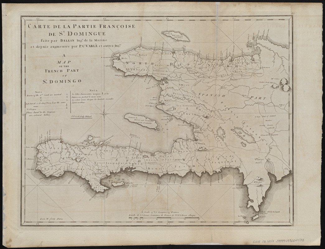 Historic Map | 1800 Carte de la partie Francoise de St. Domingue = A map of the French part of St. Domingo | Antique Vintage Reproduction