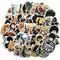 Elibeauty lunanana 50 stks My Hero Academia Stickers, Waterdichte Vinyl Anime Stickers voor Laptop Bagage Skateboard…