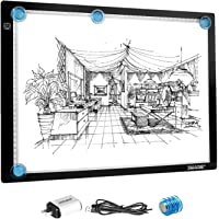 A3 LED Light Pad for Diamond Painting,Ultra-Thin USB Powered Dimmable Brightness Magnetic Artcraft Tracing Light Board…