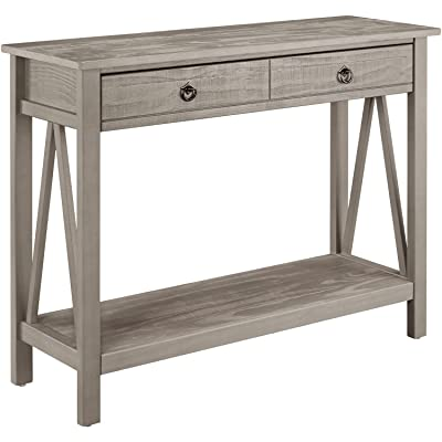 Charmant Stylish Console Table, 31 Inches Tall, 2 Drawers Provide Ample Storage  Space, Versatile