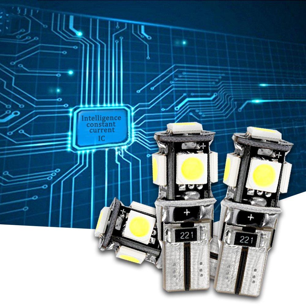 Muchkey Ampoules de Voiture Lampe pour XC60 2010-2015 Ampoules de Voiture Lampe Dimmatriculation Lumi/ères Lampes Remplacement Blanc 8pcs