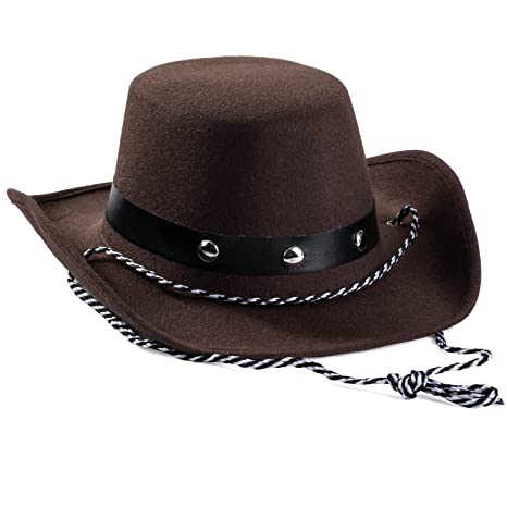 8b1280f1a Baby Cowboy Hat - Cowboy Hat Toddler – Studded Cowboy Hat - Brown Felt  Cowboy Hat - Cowboy Accessories by Funny Party Hats