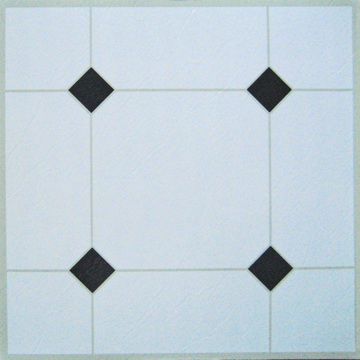50 dalles PVC adh/ésives pour le solBlanc et noir
