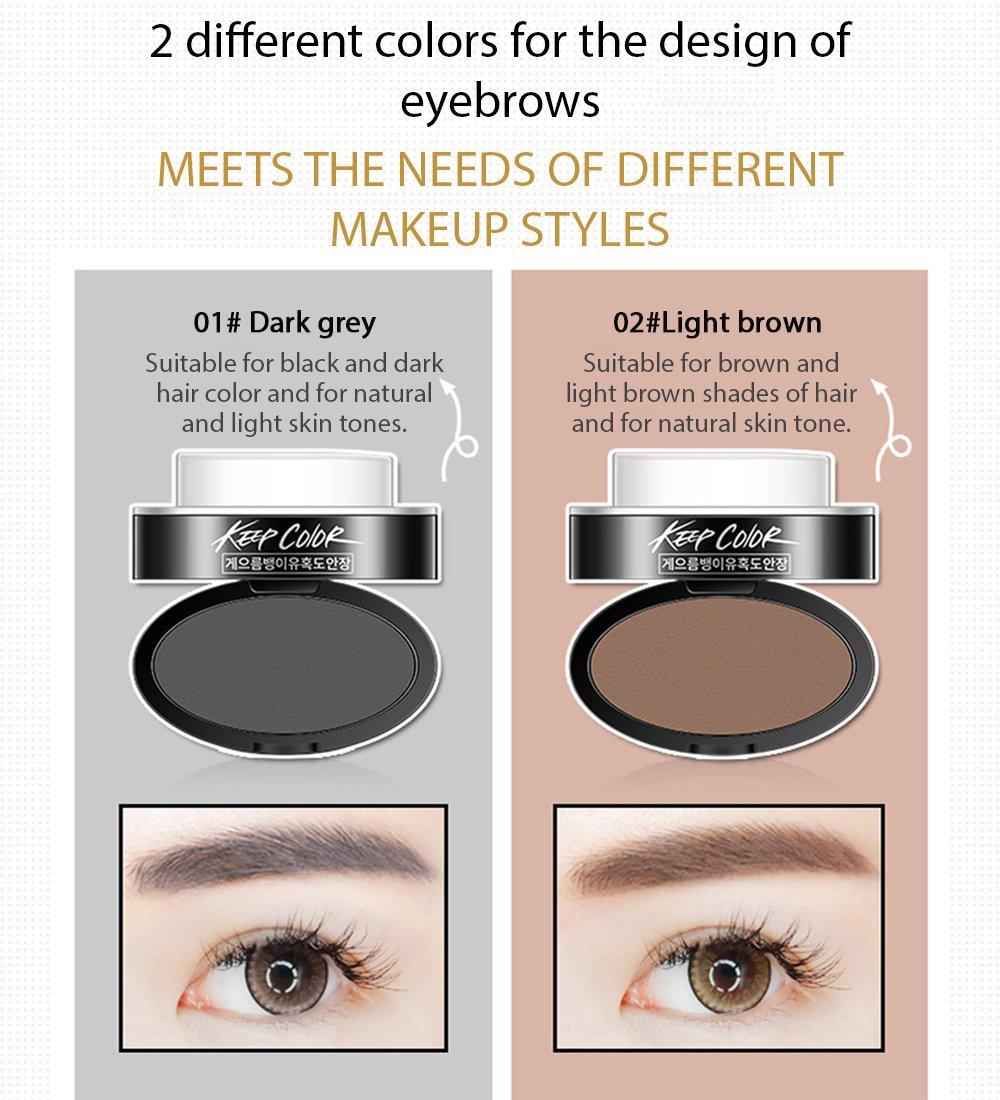 Amazon Rorec Eyebrow Powder Stamp 2 Natural Colors Charming