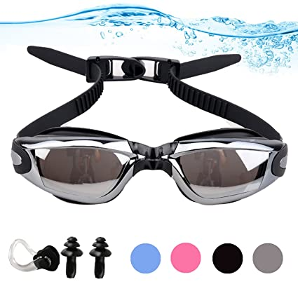 63e935d6746 YINGNEW No Leaking Prescription Swimming Goggles - Unisex Triathlon Swim  Glasses with Free Nose Clip   Earplugs