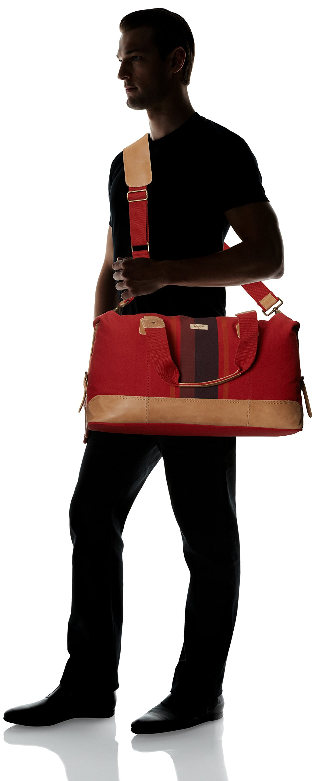 Original Penguin Men's Canvas Weekend Bag Duffel Bag, Pompeian Red, One Size by Original Penguin (Image #6)