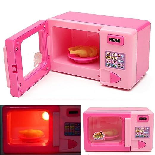 Xeno-plástico rosa microondas horno niños niñas hogar rol ...