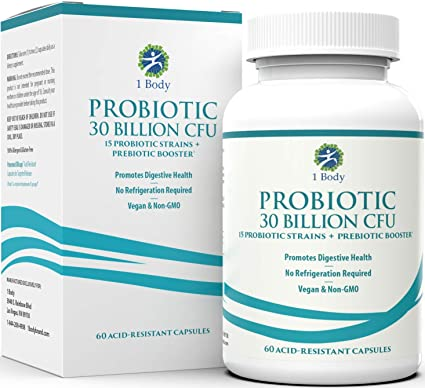 Amazon.com: 30 Billion CFU Probiotic Supplement with Prebiotics – Patented Acid Resistant Capsules to Promote Gut Health, Support Immune System – Probiotics for Women and Men of All Ages - 60 Vegetarian