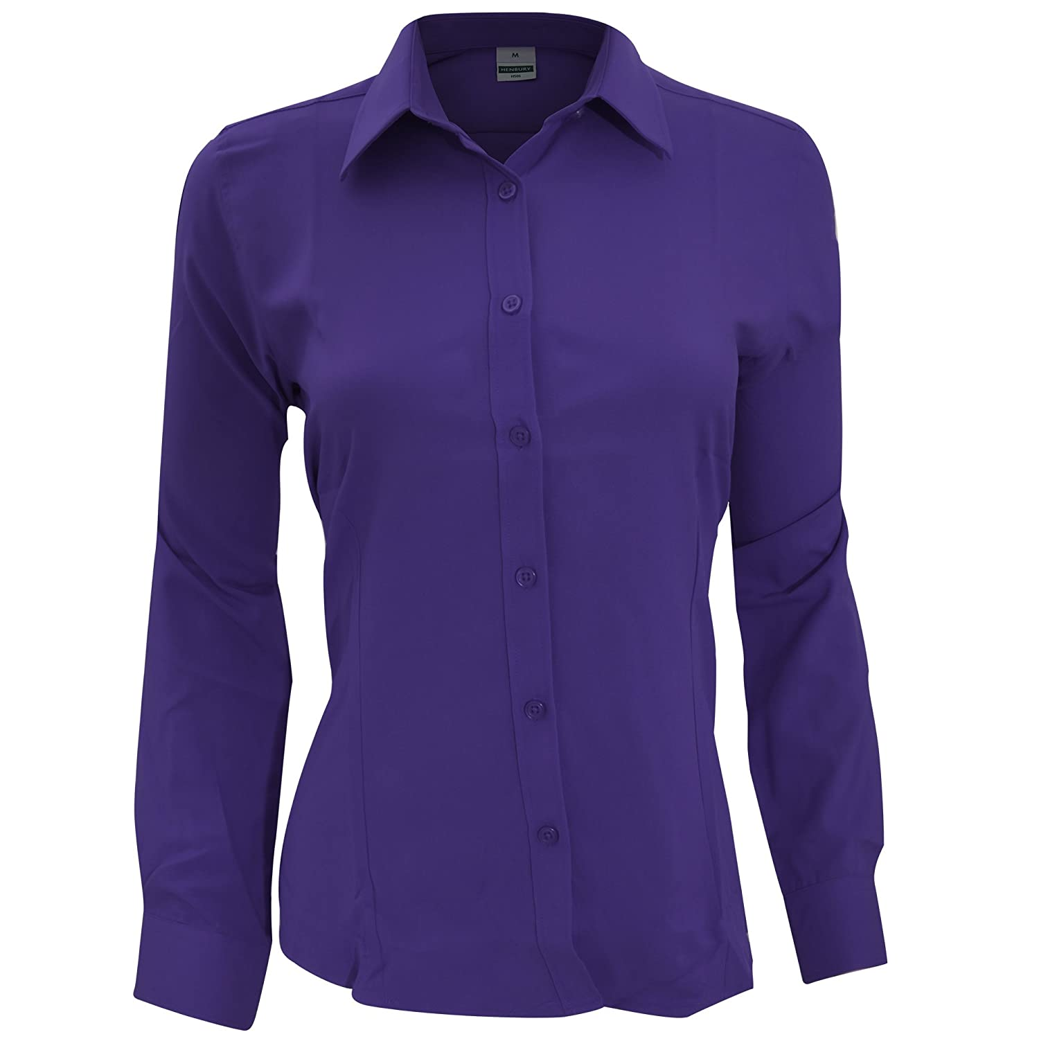 Amazon.com: Henbury Womens/Ladies Wicking Anti-bacterial Long Sleeve Work  Shirt: Clothing