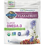 Garden of Life Raw Organic Flax Seed Meal with Antioxidant Fruits - Flaxseed with Lignan and Polyphenol, 12 oz Pouch