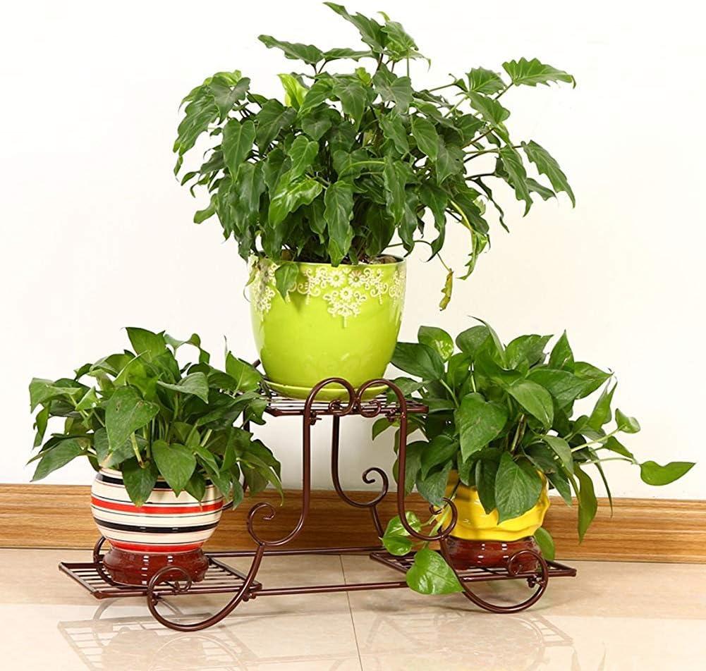 LXD Blumenständer, European Iron Art Flower Rack Balkon, Spitze, Chlorophytum, Landing Flower Pot Rack