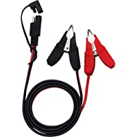 CERRXIAN 3.2ft 12V 14AWG Alligator Butterfly Clip to SAE Connector Quick Release Disconnect Car Solar Power Charging Extension Cord,Black & Red B