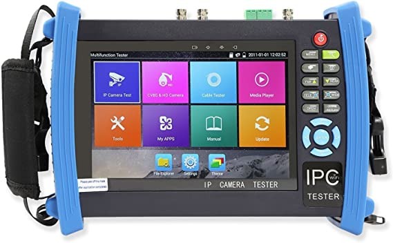 """Details about  /7/"""" 4K CCTV Security Camera Tester H.265 PTZ DMM OPM VFL TDR WiFi PoE X7-MOVTADHS"""